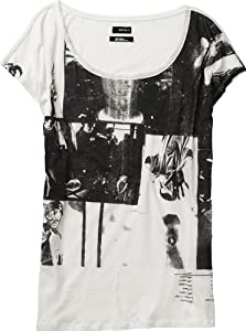 Burton Damen T-Shirt Women's Clip Tee, Stout White, XS, 12206100101