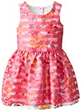 The Children's Place Little Girls' Striped Floral Dress, Caddy Pink, 2T