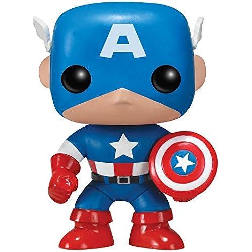 Funko - Figurine Captain America Pop 10cm - 0830395022246