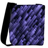 Snoogg abstract violet background Womens Carry Around Cross Body Tote Handbag Sling Bags