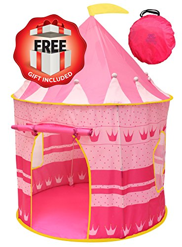 Kiddey Princess Castle Kids Play Tent - Indoor/Outdoor Pink Children Playhouse Great Gift Idea for Boys/Girls, Easy Set up and Storage, Includes a Carrying Case, Best Quality. (Build An 8 Bit Computer compare prices)