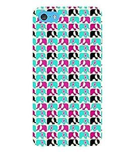 Fuson Premium Designer Elephants Printed Hard Plastic Back Case Cover for Apple iPod Touch 6