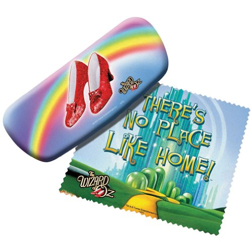 Wizard of Oz Eyeglasses Case With Cloth - No Place Like Home Glasses Holder