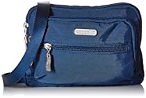 Baggallini Triple Zip Travel Crossbody Bag, Pacific, One Size