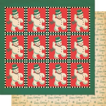 Cosmo Cricket Dear Mr. Claus Thumpity Thump Thump - Scrapbookingpapier