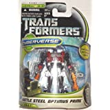 Transformers 3 Dark Of The Moon Movie Cyberverse Commander Class Action Figure Battle Steel Optimus Prime