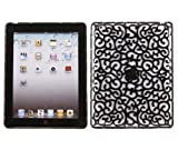 ITALKonline IMPERIAL CHROME BLACK HARD MESH WIRED Hard TOUGH Protective Armour/Case/Skin/Cover/Shell for For Apple iPad 2 (2011) 2nd generation iPad 3