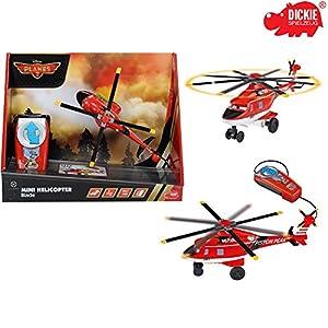 Dickie Helikopter Mini Blade mit Kabel Fernsteuerung und drehendem Rotor, 13 cm || Spielzeug Hubschrauber aus Disney Planes 2