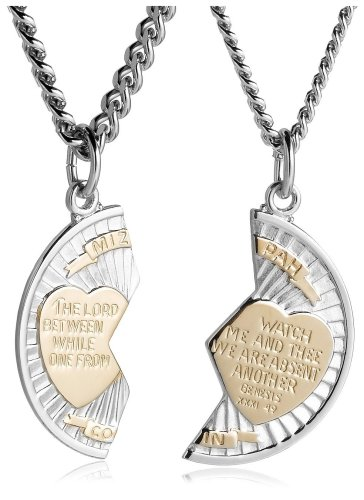 Stainless Steel and Sterling Silver Mizpah Medal