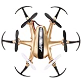 Voomall JJRC H20 2.4G 4 Channel 6-Axis Gyro Nano Hexacopter RC Drone with Headless Mode Gold