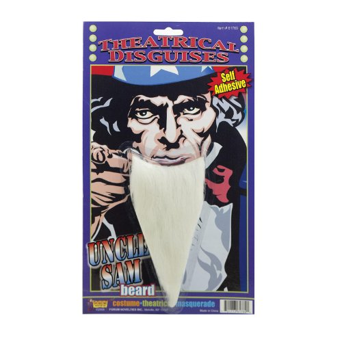 Forum Novelties Men's Uncle Sam Beard - 1