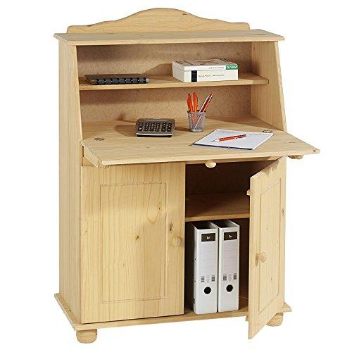 Sekretr-Schreibtisch-Landhausstil-Kommode-Klappensekretr-Schreibkommode-DAVID-COLMAR-gebeiztgewachst