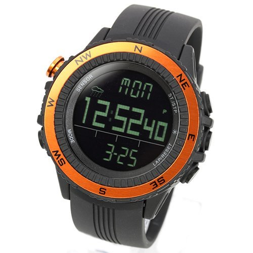 Lad Weather Watch For Outdoor Sports Heights Humidity Temperature Made In Germany Unisex Lad004Or Orange
