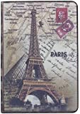 Easygoby Retro Eiffel Tower Paris Design /Stylish Folio Book Style Flip Case with Built-in Stand Cover For Apple iPad Mini