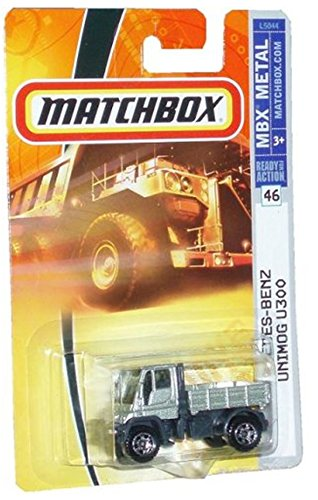 Mattel Matchbox 2007 MBX Metal 1:64 Scale Die Cast Car # 46 - Silver Multi Purpose Four Wheel Drive Medium Trucks Mercedez Benz Unimog U300