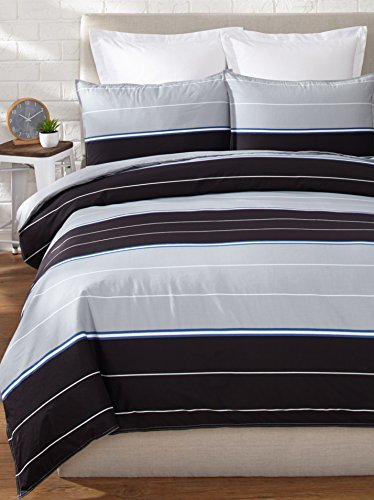 Nautica Danbury Duvet Cover Set, King, Black front-1002999