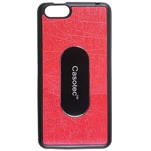 Casotec Metal Back TPU Back Case Cover for Panasonic P55 NOVO - Red