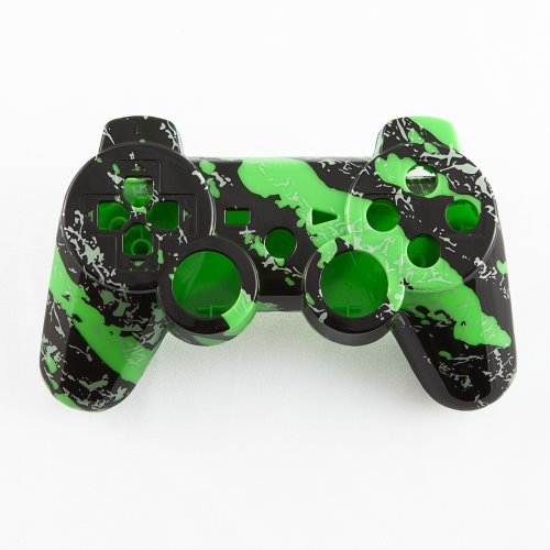 Green Marble Hydro-Dipped Custom Controller Shell For Ps3 front-304004