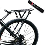 Nexify Bike Bicycle Quick Release Luggage Seatpost Pannier Carrier Rear Rack Fender + Bike Chainstay Protector