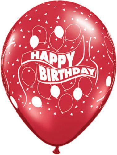 "Pioneer Balloon Company Happy Birthday Party Latex Balloons (5 Pack), 11"", Assorted"