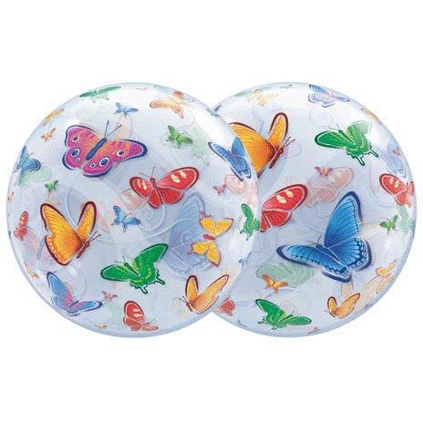 22 Inch Butterflies 3D Bubble Balloons