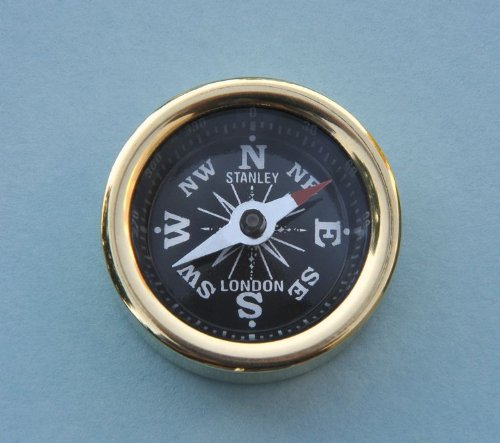 Solid Brass Plain Smooth Pocket Compass