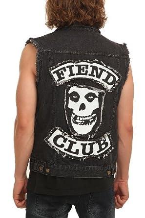 Misfits Fiend Club Denim Vest Size : Small at Amazon Men's Clothing