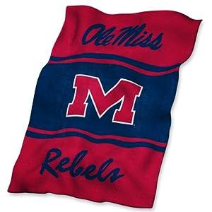 Mississippi Rebels NCAA UltraSoft Fleece Throw Blanket by Logo Chair