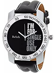 Relish-564 Stylish Silver & White Case Analog Watches For Mens & Boys