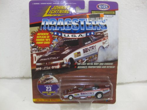 Bruce Larson 1990 Sentry Gauges Oldsmobile Funny Car NHRA In Maroon Diecast 1:64 Scale Dragsters USA Collector No 23 By Johnny Lightning