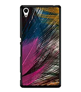 Fuson Premium Colorful Feathers Metal Printed with Hard Plastic Back Case Cover for Sony Xperia Z4