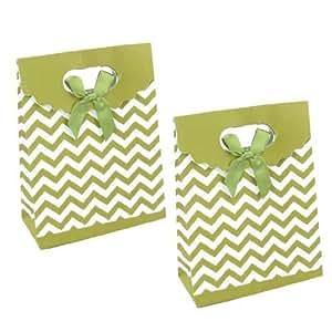 Ondulado regalo de cumpleaños Bolsa de papel titulares Verde Oliva