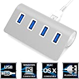 "Sabrent Premium 4 Port Aluminum USB 3.0 Hub (30"" cable) for iMac, MacBook, MacBook Pro, MacBook Air, Mac Mini, or any PC (HB-MAC3)"