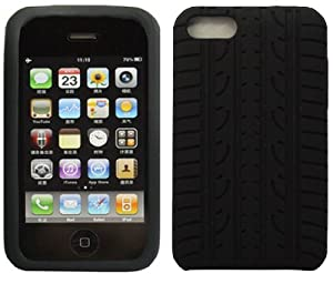 LUPO Apple iPod Touch 2G & 3G TYRE TREAD Silicone Skin Case - BLACK