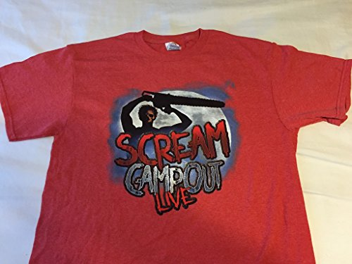 [Scream Campout Live Red T Shirt XXL] (Official Scream Costumes)