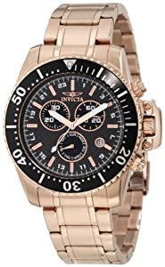 Invicta Pro-Diver Chronograph Rose Gold-Plated Mens Watch 11289