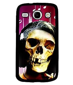 Fuson 2D Printed Skull Face Designer back case cover for Samsung Galaxy Core I8262 - D4620