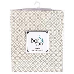 Ben & Noah Fitted Crib Sheet- Mini Linen Print
