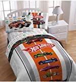 Hot Wheels 4 Pc Twin Bedding Comforter and Sheets Set