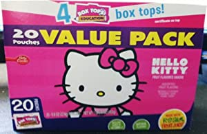 HELLO KITTY Gluten Free Naturally Flavored Fruit Snacks - 20 Pouches VALUE PACK