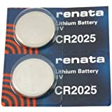 FOSSIL Watches:CR2025 Renata Watch Batteries 2Pcs