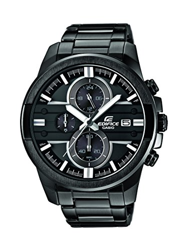Reloj cuarzo Casio Para Hombre Con  Negro Analogico Y Negro acero inoxidable EFR-543BK-1A8VUEF