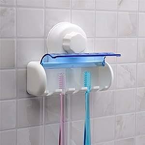 sweeet mall sanitary bathroom 5 slot toothbrush holder with self adhesive plastic. Black Bedroom Furniture Sets. Home Design Ideas