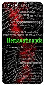 Hemavatinandan (Son Of Goddess Parvati ( Ganesh )) Name & Sign Printed All over customize & Personalized!! Protective back cover for your Smart Phone : Samsung Galaxy A-3