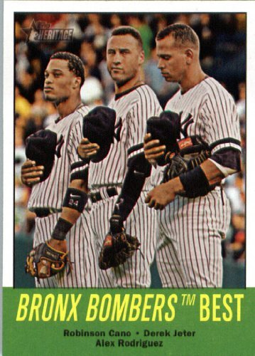 2012 Topps Heritage 173 Robinson Cano / Derek Jeter / Alex Rodriguez - New York Yankees (Bronx Bombers Best)- MLB Trading (Stores In Bronx Ny)