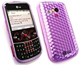 EMARTBUY LG GW300 HEXAGON PATTERN GEL SKIN COVER/CASE PURPLE