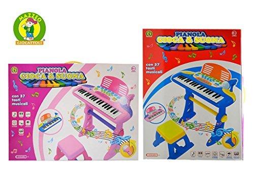 PIANOLA ELETTRONICA CON MICROFONO - PIANOLA GIOCA E SUONA - MAZZEO GIOCATTOLI
