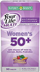 Nature's Bounty Your Life Women's Multi 50 Plus, 90 Tablets