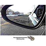 (Pair) Objects in Mirror are Losing Decal BLACK Etched Glass Funny Sticker (Come With Free stickerbomb hand decal) stickerciti Brand