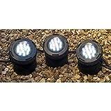 PONDKRAFT LED Unterwasser Teichbeleuchtung Spot 3er Set